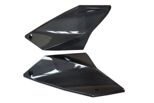 Upper Side Panels in Glossy Twill Weave Carbon Fiber for KTM 1290 Super Duke R 2014-2016
