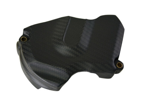 Sprocket Cover in Matte Twill Weave Carbon Fiber for KTM 1290 Super Duke R, GT