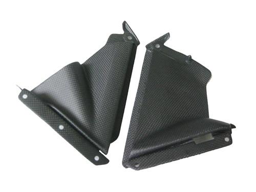 Matte Plain Weave Carbon Fiber Pullers for Aprilia RSV4 2009+