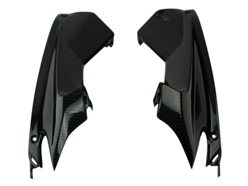 Upper Inner Fairings in Glossy Twill Weave Carbon Fiber for Aprilia RSV4 2016+