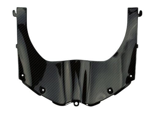 Front Fairing Lower Lock-up in Glossy Twill Weave Carbon Fiber for Aprilia RSV4 2016+