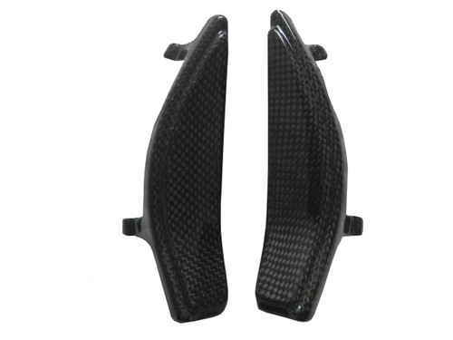 Glossy Plain Weave Carbon Fiber Small Under Front Seat Side Covers for BMW K1300R, K1200R