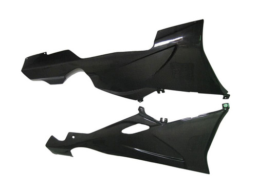 Glossy Plain Weave Carbon Fiber Belly Pan for BMW K1200S, K1300S