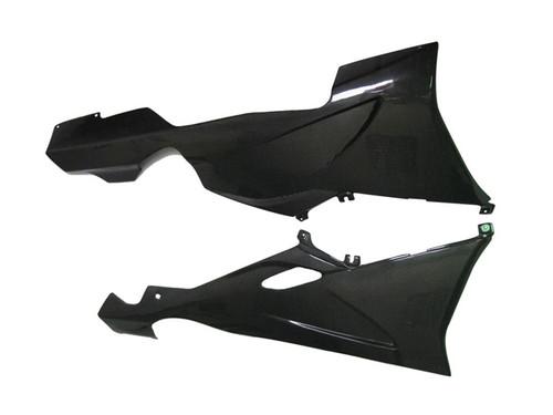 Glossy Plain Weave Carbon Fiber Belly Pan for BMW K1200S, K1300S