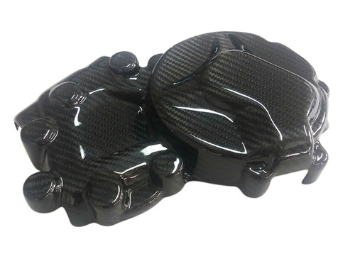 Racing Engine Cover RH w/ Kevlar Inside in Glossy Twill Weave Carbon Fiber for BMW S1000R, S1000RR, S1000XR