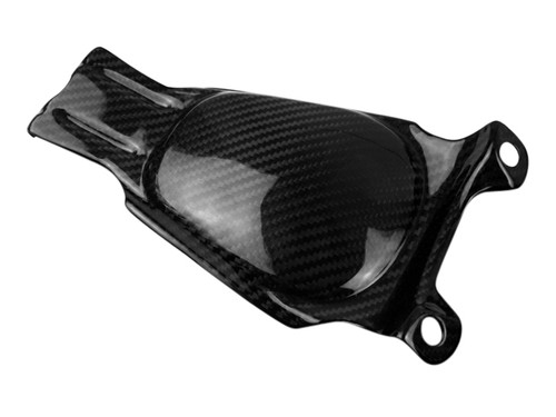 Small Piece on Plate Holder in Glossy Twill Weave Carbon Fiber for Buell XB9S,R,RX,XB12S,R,SX