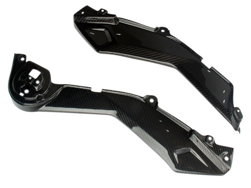 Lower Shrouds in Glossy Twill Weave Carbon Fiber for Honda Grom MSX 125