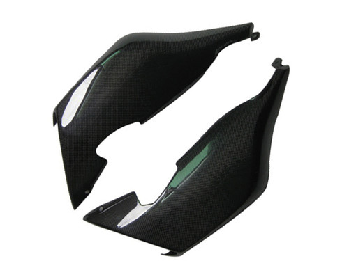 Glossy Plain Weave Carbon Fiber Tail cowl fairings/ Pair for BMW K1200S, K1300S