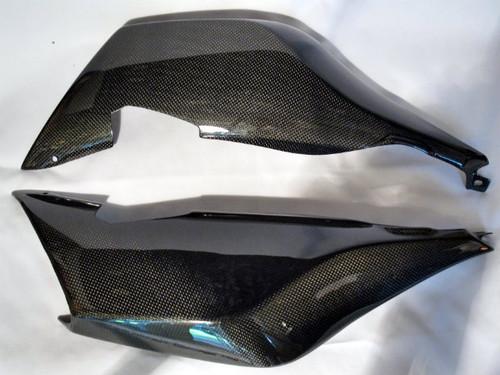 Glossy Plain Weave Carbon Fiber Tail Cowl Fairings for BMW K1200S, K1300S
