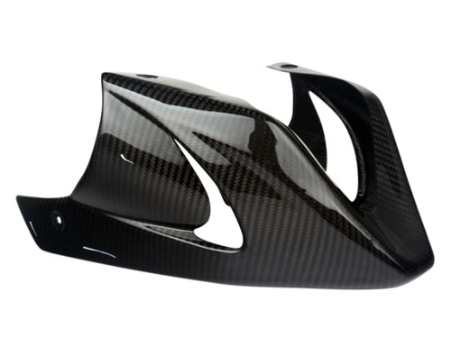 Belly Pan w/Bracket in Glossy Twill Weave Carbon Fiber for Honda Grom MSX 125