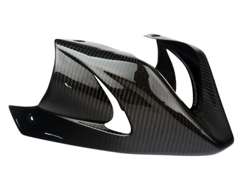 Belly Pan w/Bracket in Glossy Twill Weave Carbon Fiber for Honda Grom MSX 125