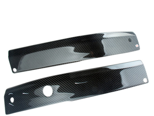 Frame Covers in Glossy Twill Weave Carbon Fiber for Honda VFR400 NC30