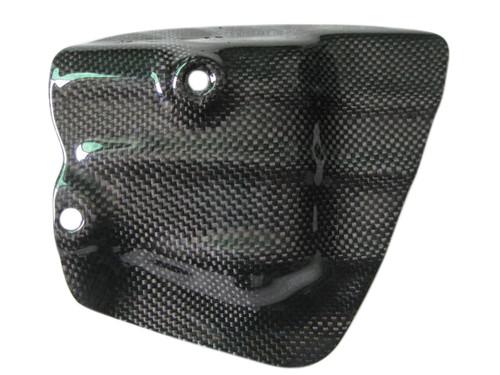 Exhaust Shield in Glossy Plain Weave Carbon Fiber for Honda VFR400 NC30