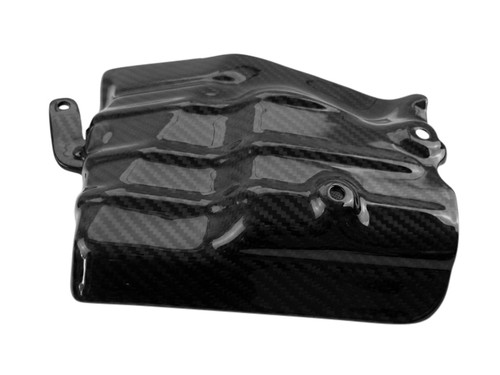 Exhaust Shield in Glossy Twill Weave Carbon Fiber for Honda VFR400 NC30