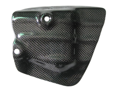 Exhaust Shield in Glossy Plain Weave Carbon Fiber for Honda VFR400 NC30