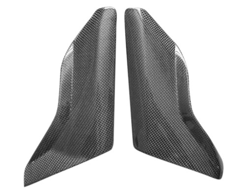 Lower Side Tank Covers for BMW R 1200 GS 04-07 in Glossy Plain Weave Carbon Fiber