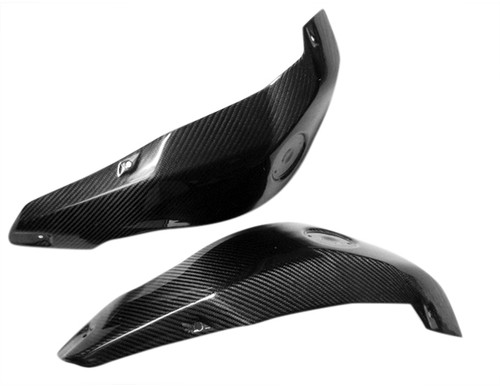 Front of Side Tank Covers for BMW R 1200 GS 08-12 in Glossy Twill Weave Carbon Fiber