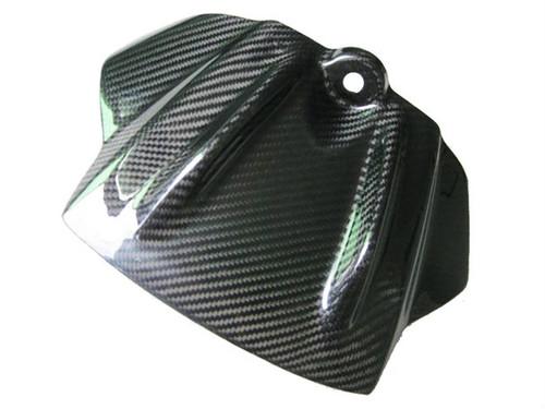 Glossy Twill Weave Carbon Fiber Tank Front Cover for Aprilia RSV4 2009-2012, Tuono V4 2011-2013