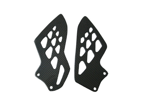 Glossy Plain Weave Carbon Fiber Heel Guards for BMW S1000RR, S1000R