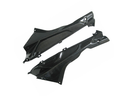 Glossy Plain Weave Carbon Fiber Upper Side Fairing for BMW S1000RR 2009-2014