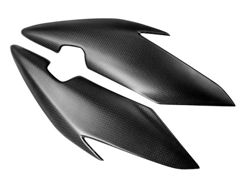 Side Fairings in Matte Plain Weave Carbon Fiber for Triumph Speed Triple 1050R 2016+