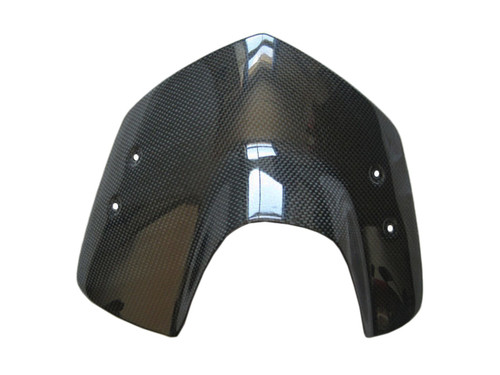Glossy Plain Weave Carbon Fiber Windshield for BMW K1200R, K1300R
