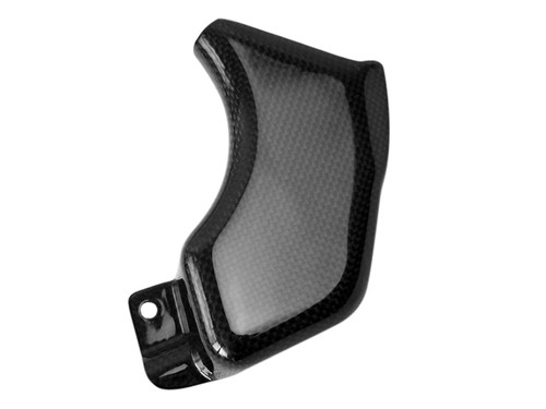 Coolant Reservoir Cover in Glossy Plain Weave Carbon Fiber for Triumph Speed Triple 1050R 2011+