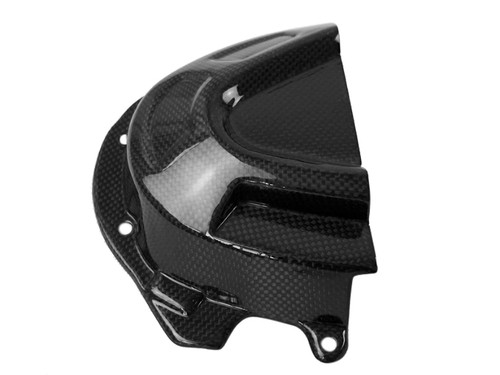 Sprocket Cover in Glossy Plain Weave Carbon Fiber for Triumph Speed Triple 1050R 2016+