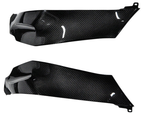 Tank Side Panels in Glossy Plain weave Carbon Fiber