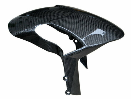 Front Fender in Glossy Plain Weave Carbon Fiber for Ducati Monster 696 / 796 / 1100 / EVO ABS models
