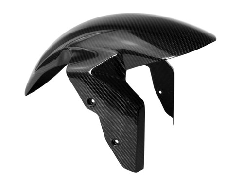 Front Fender Long Version in Glossy Twill Weave Carbon Fiber for BMW S1000R, S1000RR, S1000XR