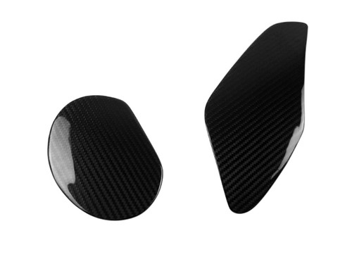 Headlight Covers in Glossy Twill Weave Carbon Fiber for BMW S1000RR 09-14