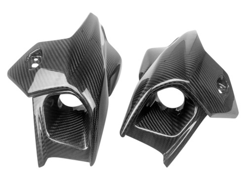 Tuning Air Intake Covers Set in Glossy Twill Weave  Carbon Fiber for BMW K1300R