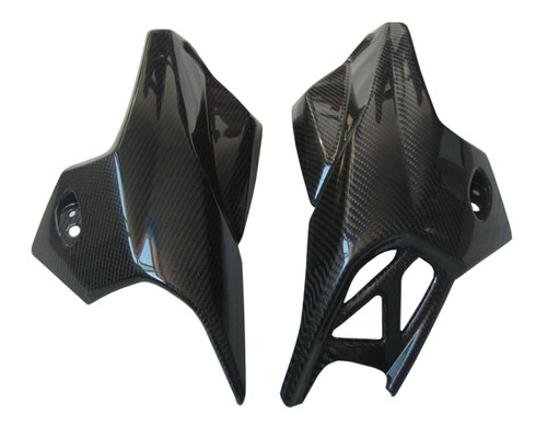 Glossy Twill Weave Carbon Fiber Air Intakes for BMW K1300R