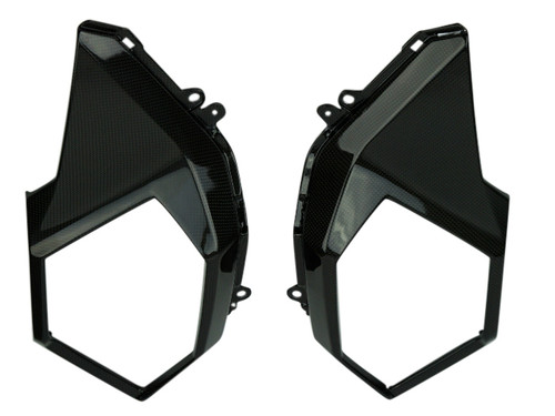 Under Tank Side Panels in Glossy Twill Weave Carbon Fiber for Honda Grom MSX 125 2017+
