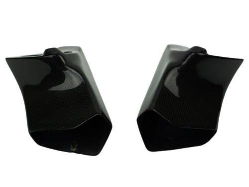 Air Ducts in Glossy Plain Weave Carbon Fiber for Aprilia Tuono 02-05