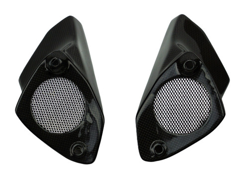 Air Ducts in Glossy Plain Weave Carbon Fiber for Aprilia Tuono 02-05