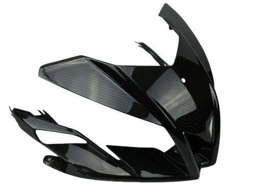 Front Fairing in Glossy Twill Weave Carbon Fiber for Aprilia Tuono V4 2011-2015