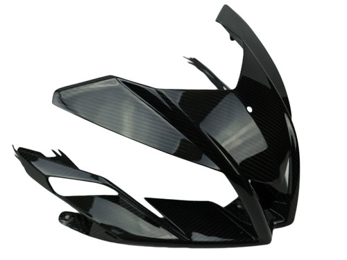 Front Fairing in Glossy Twill Weave Carbon Fiber for Aprilia Tuono V4 2011-2015
