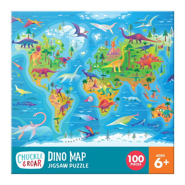 Dino Map 100 Piece Jigsaw Puzzle Box