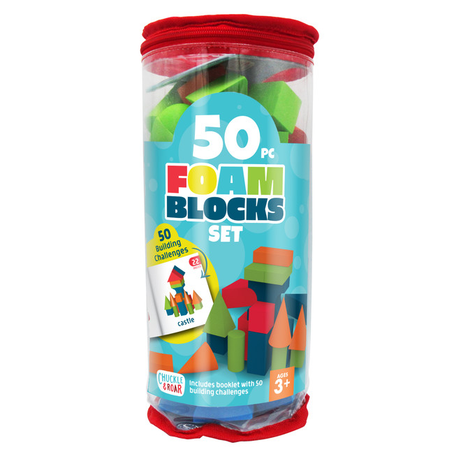 50 Piece Foam Blocks Set Front