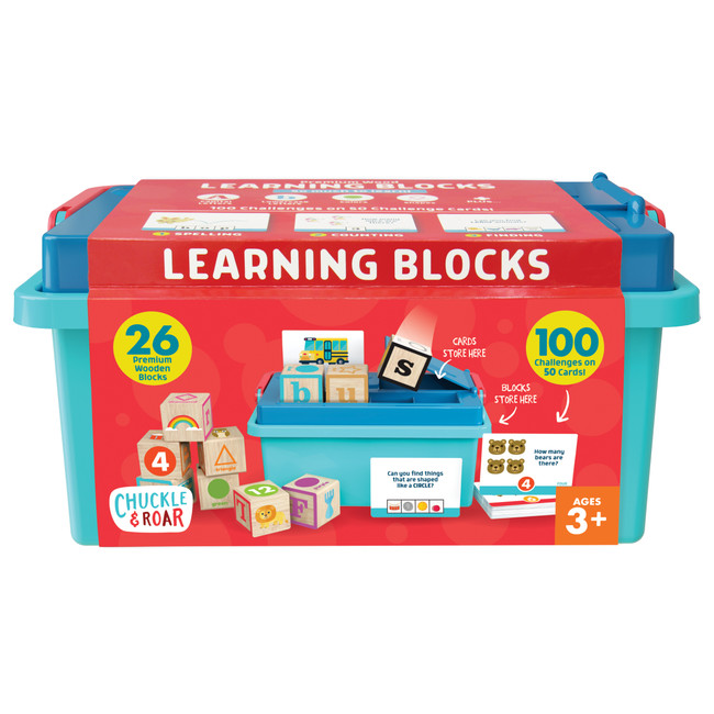 Premium Wood Learning Blocks Front