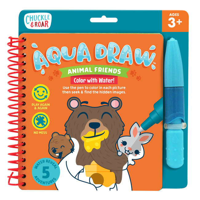 Aqua Draw Animal Friends- Color With Water Travel Game Front