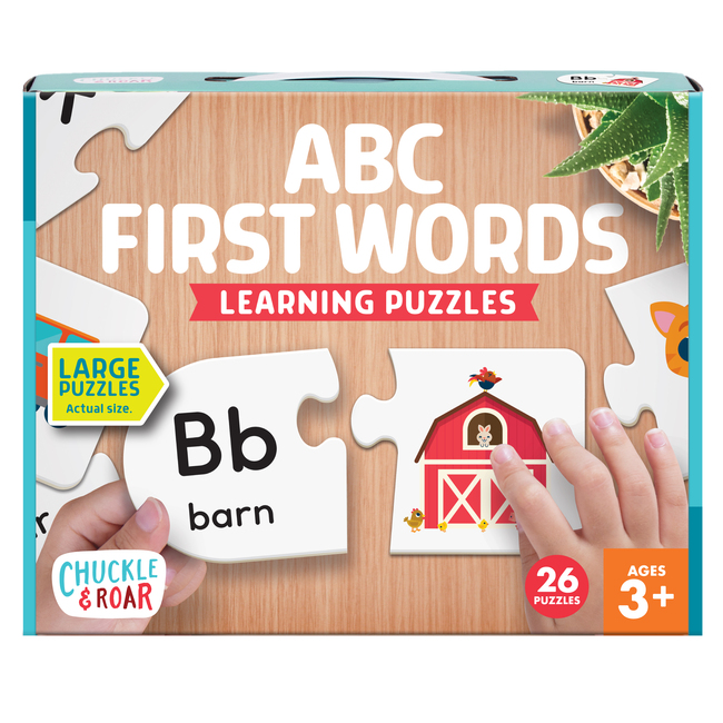 ABC First Words Learning Puzzles- 26 2pc Puzzles Front