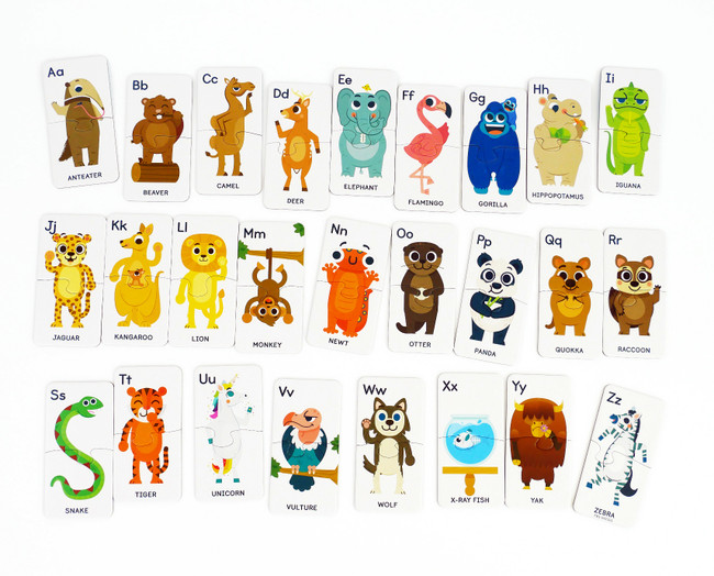 ABC Animals- 26 Preschool Learning Puzzles