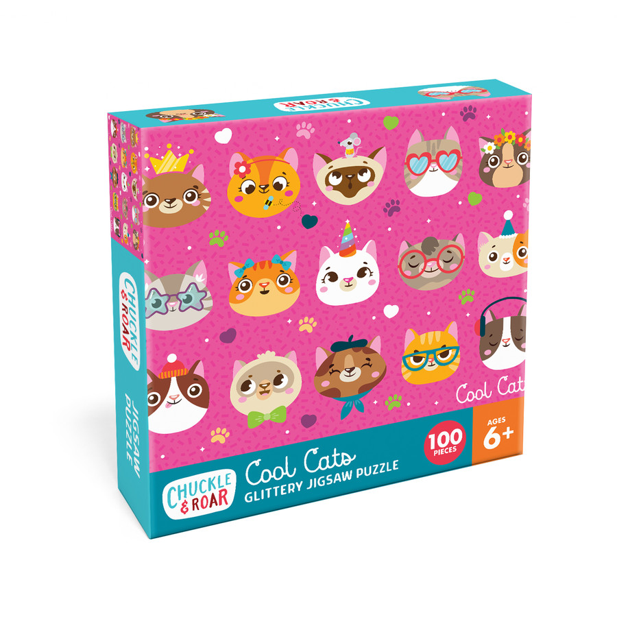 Cool Cats 100 Piece Jigsaw Puzzle Box