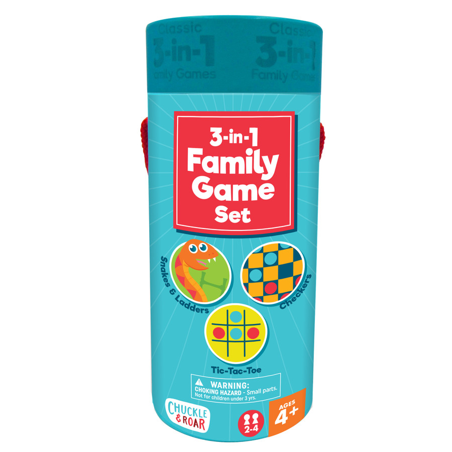 3-in-1 Family Game Set Front