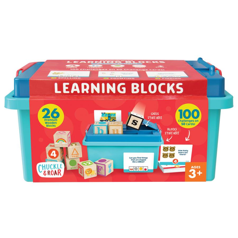 Premium Wood Learning Blocks Front