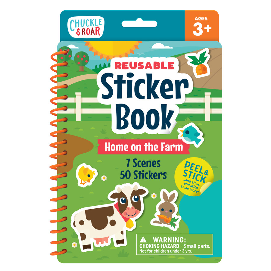 Reusable Sticker Book- Home on the Farm Front
