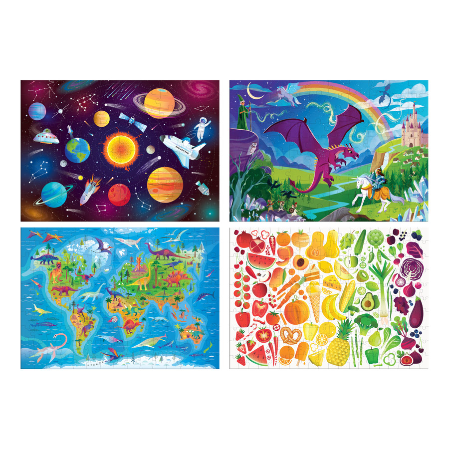 4 Pack of Jigsaw Puzzles- 100, 150, and 200 Piece Puzzles